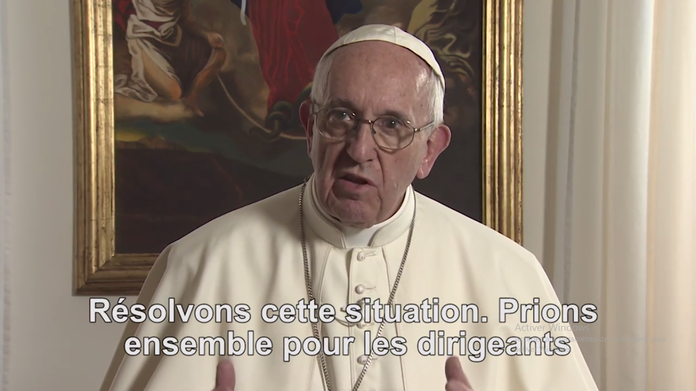 Vidéo du pape, juin 2017, capture