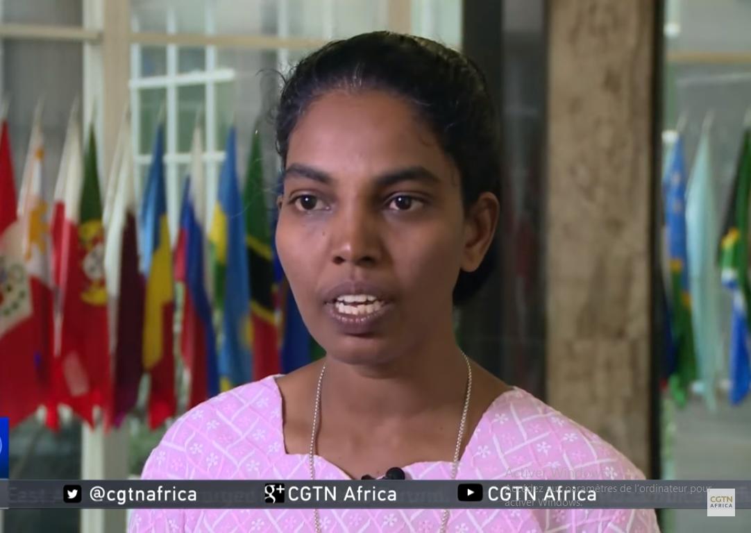 Soeur Vanaja Jasphine, capture CGTN