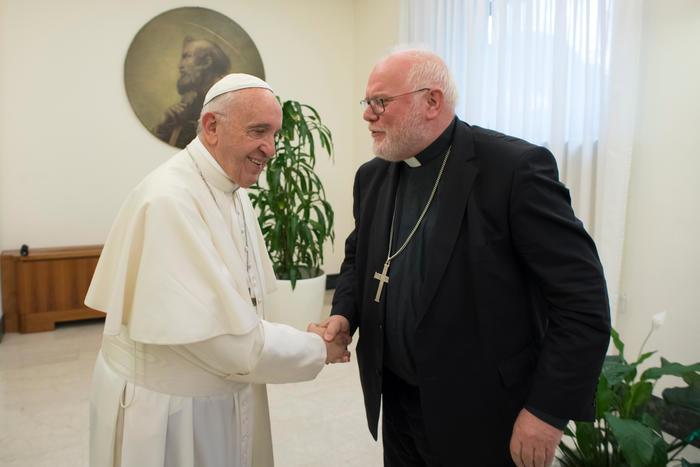 Le card. Marx et le pape François © COMECE