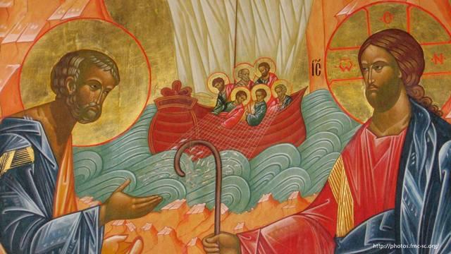 Jésus et Pierre © associationdemarie.org