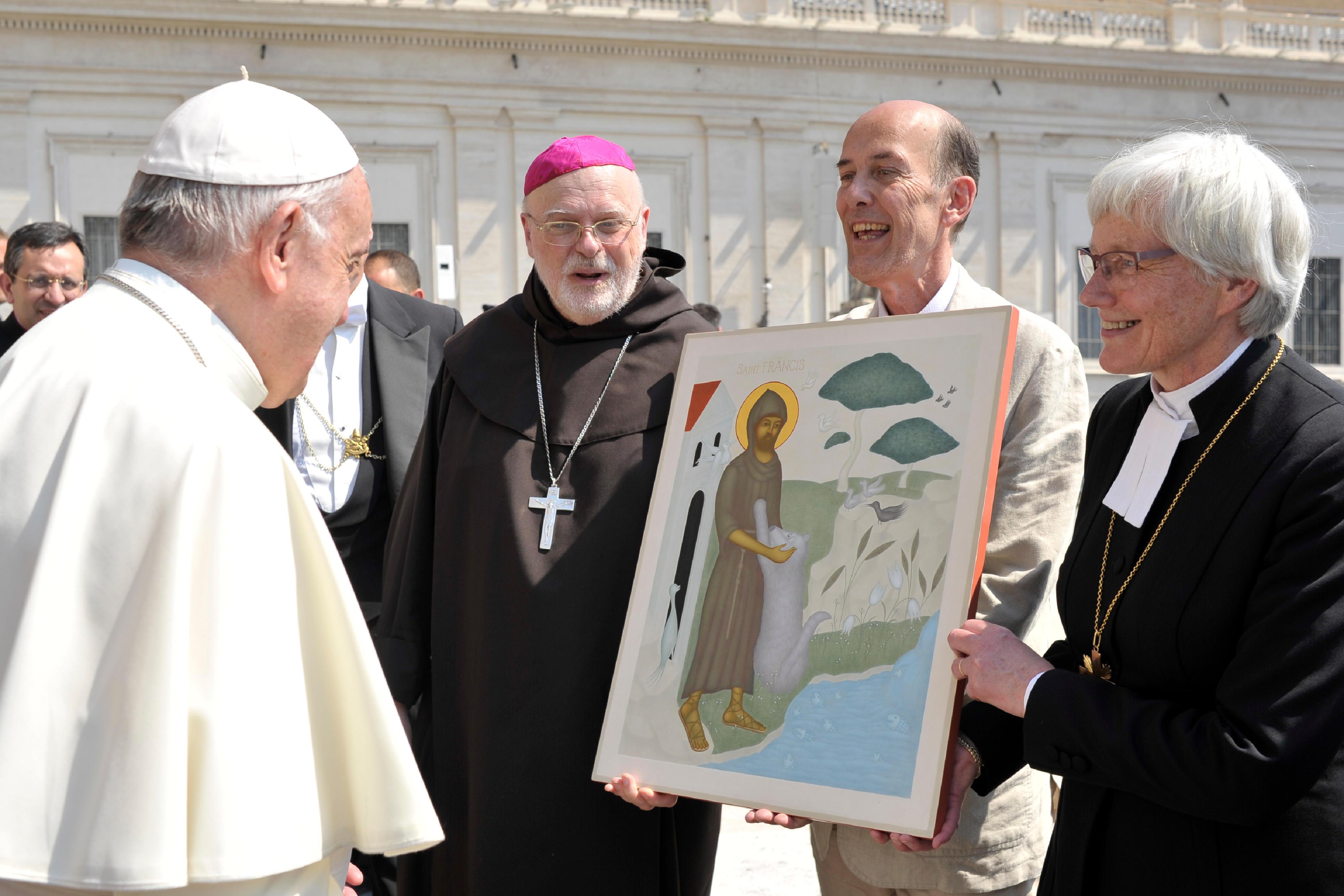 Icône de saint François d'Assise offerte par une délégation suédoise © L'Osservatore Romano