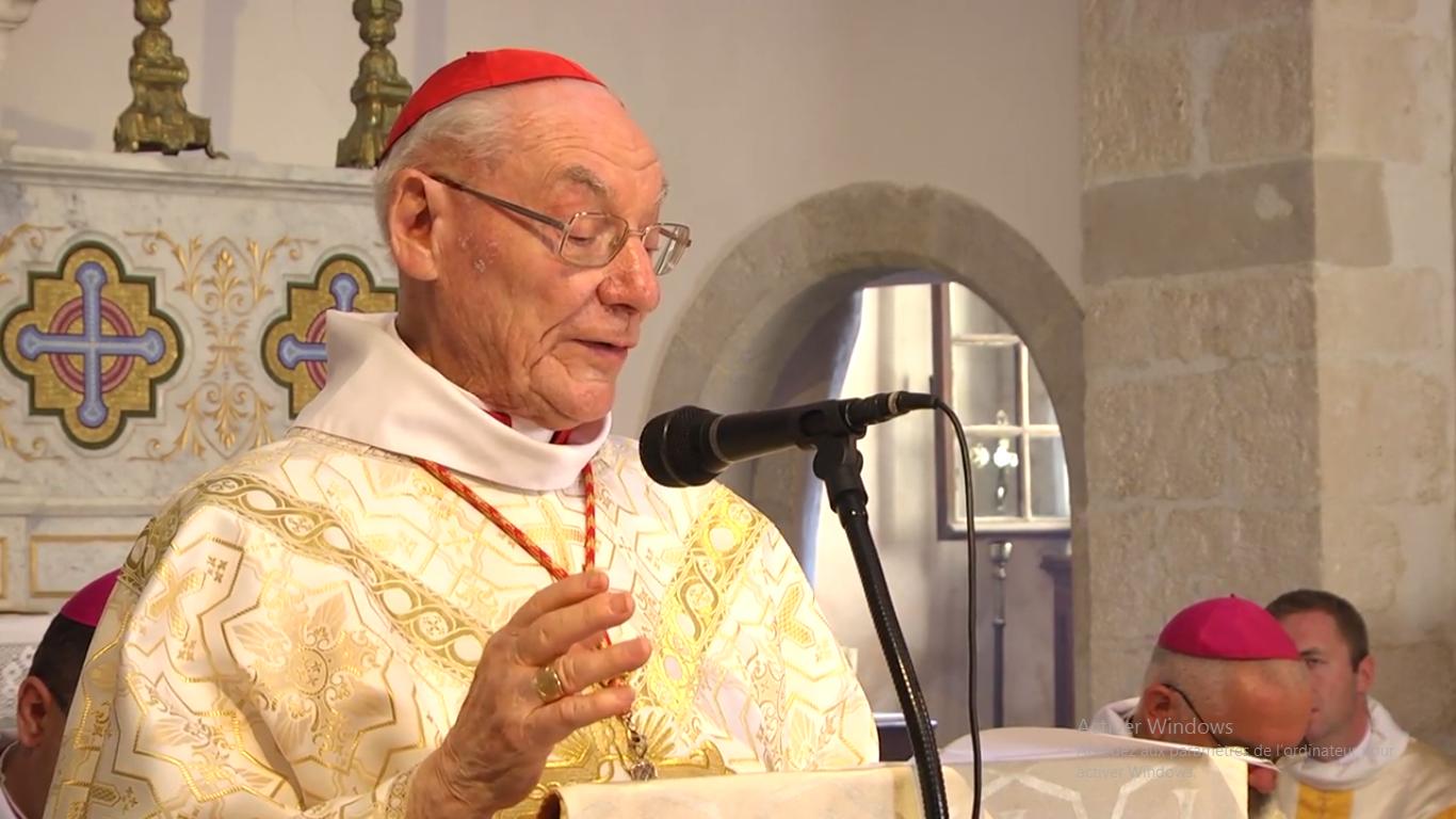 Le card. Poupard à Richerenches, 24/07/2017, capture WEB TV du diocèse d'Avignon