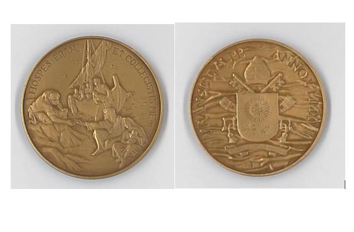 Médaille du pontificat, migrants