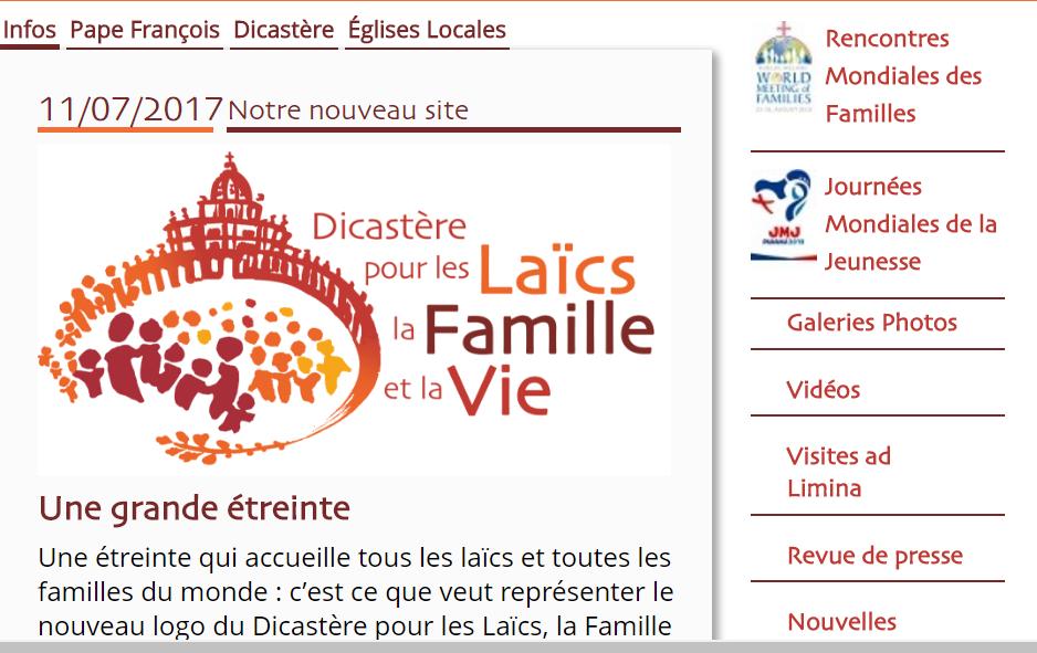 Site du Dicastère pour les laïcs la famille et la vie
