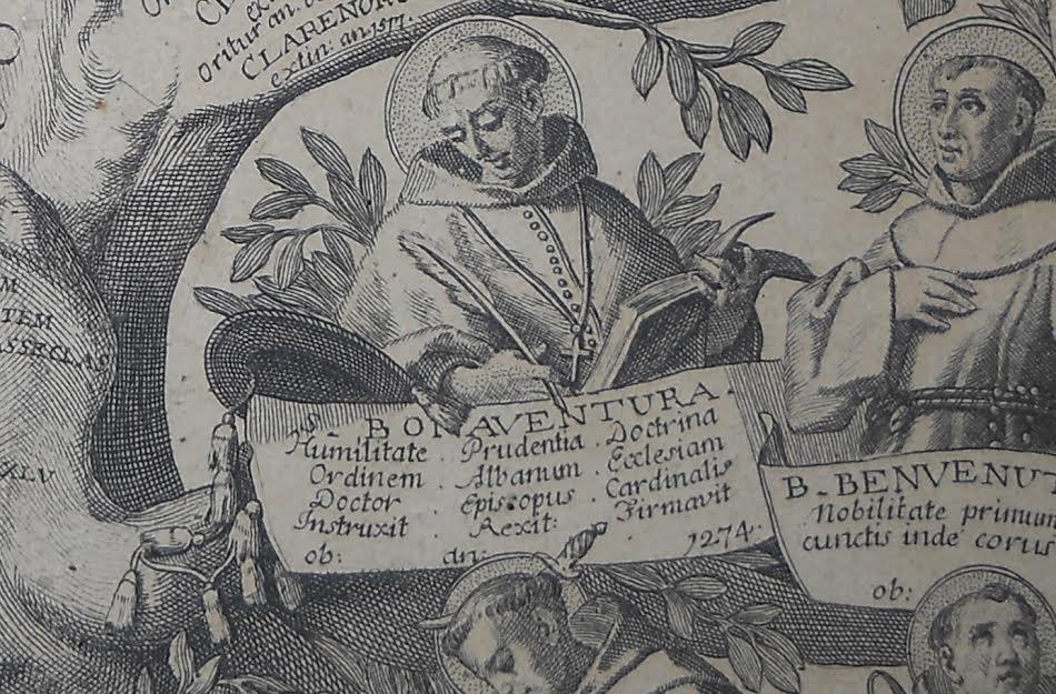 S. Bonaventure, Giulio Cesare Bianchi, Albero francescano, 1762, courtoisie du P. P. Messa