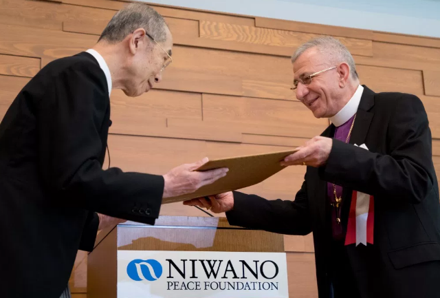 Munib Younan reçoit le Prix Niwano © elcjhl.org