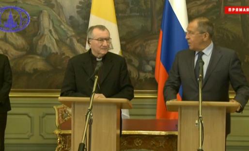 Le card. Parolin et le ministre Lavrov, Russie, capture mid.ru