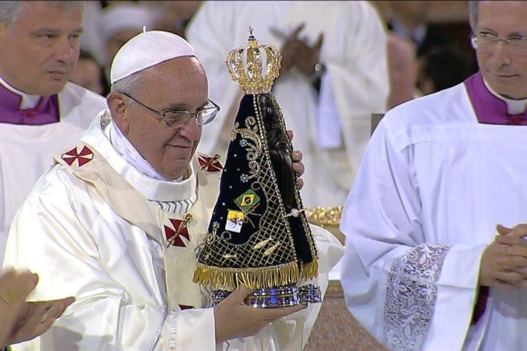 Pèlerinage du pape François à Aparecida, 2013, capture CTV