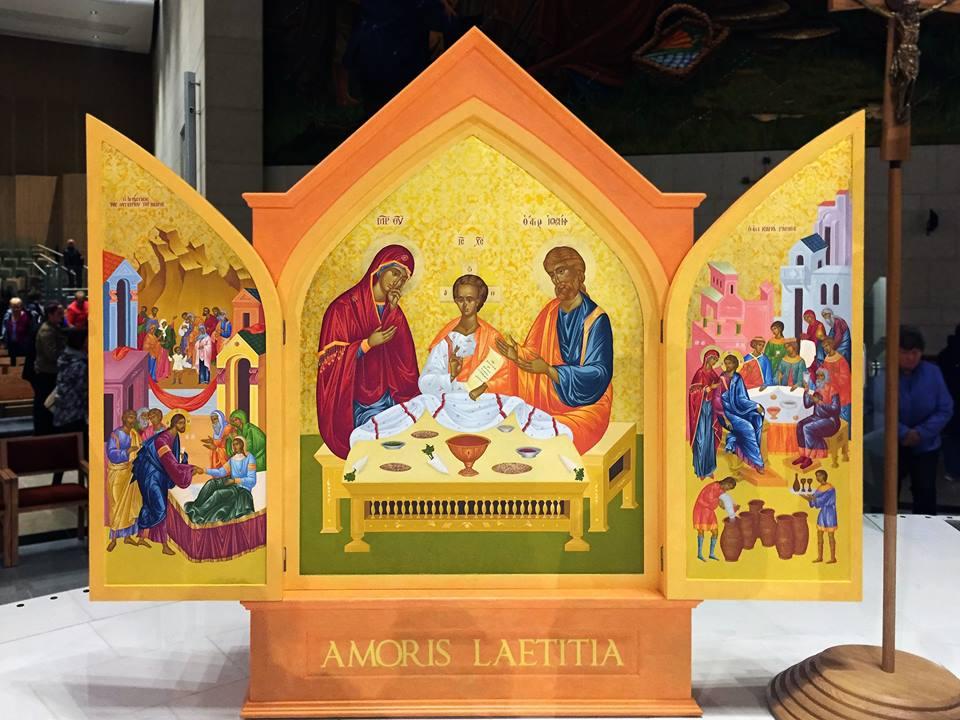 Icône de la Sainte-Famille pour Dublin 2018 WDOF @knockshrine.ie