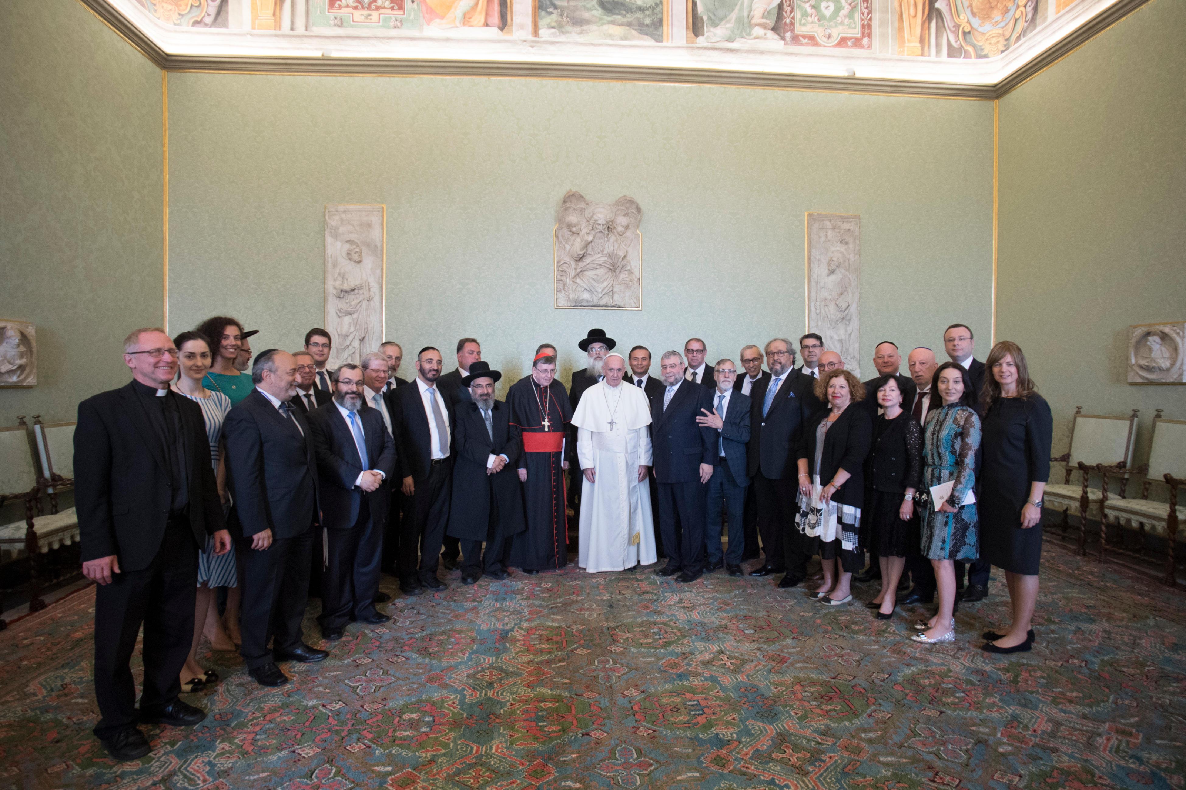 Audience à des rabbins © L'Osservatore Romano