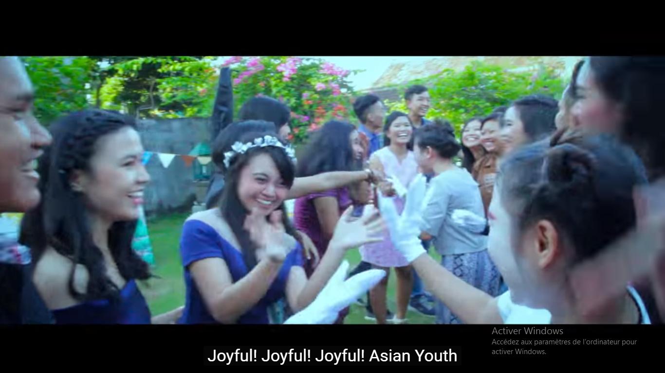 Vidéo clip de la journée de la jeunesse asiatique 2017, capture