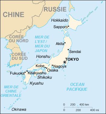 Carte du Japon @ wikimedia commons