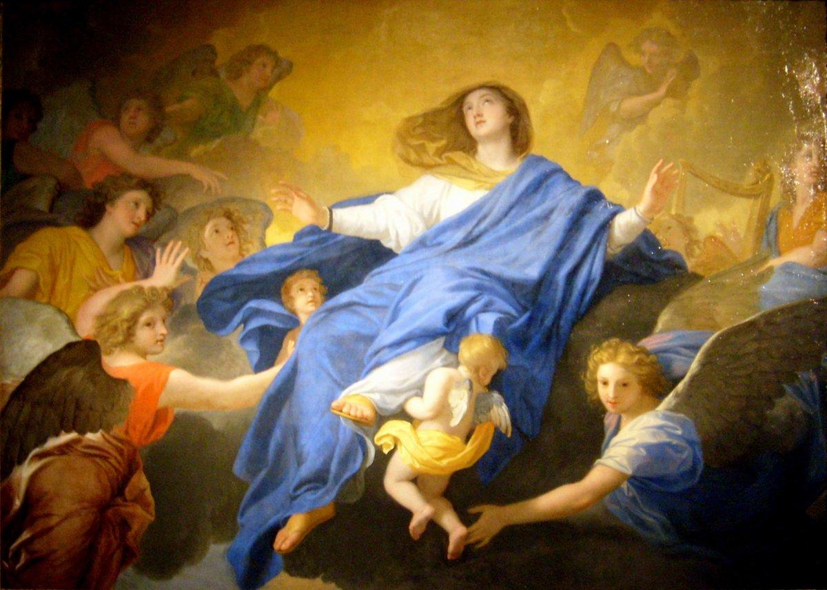 L'Assomption de la Vierge Marie par Charles Lebrun (Musée de Cherbourg), wikimedia commons