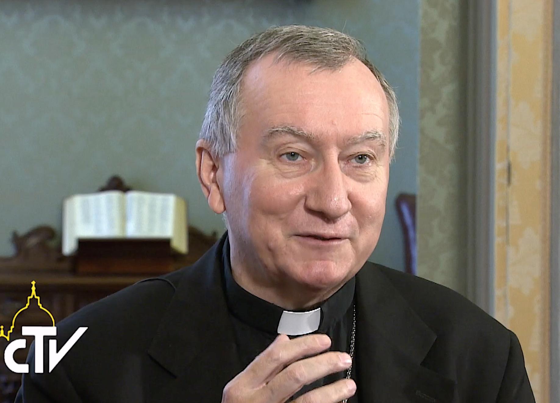 Cardinal Parolin, capture CTV