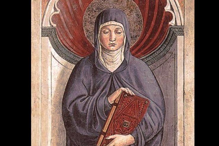 Sainte Monique par Benozzo Gozzoli, San Giminiano (Italie), Domaine public