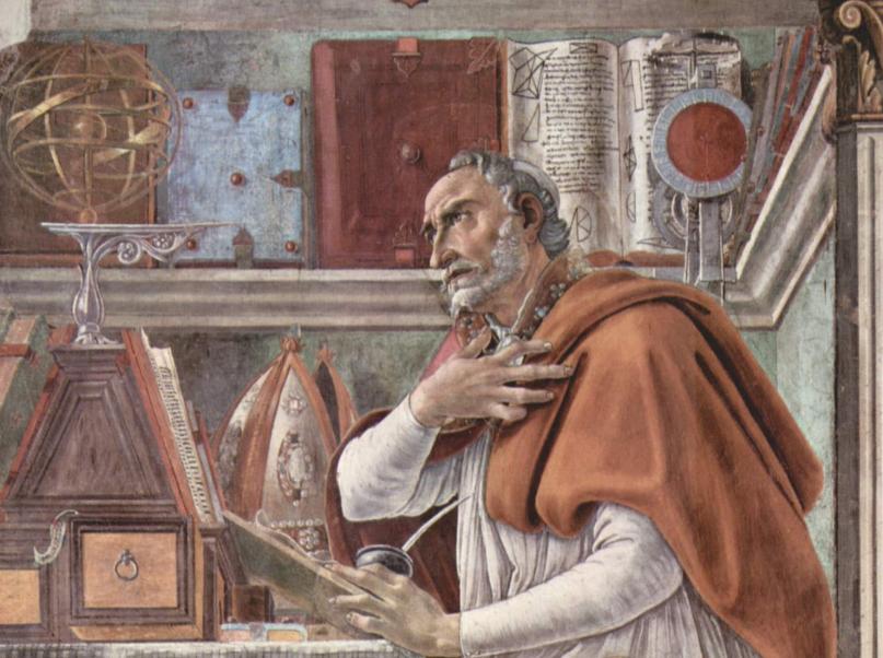 St Augustin © Wikimedia Commons / Peinture de Sandro Botticelli