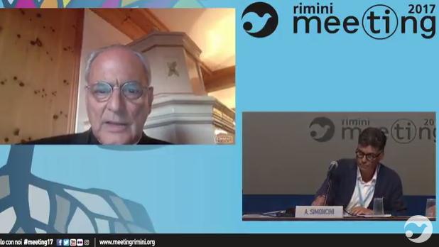 Mgr Sanchez Sorondo, capture vidéo Meeting de Rimini