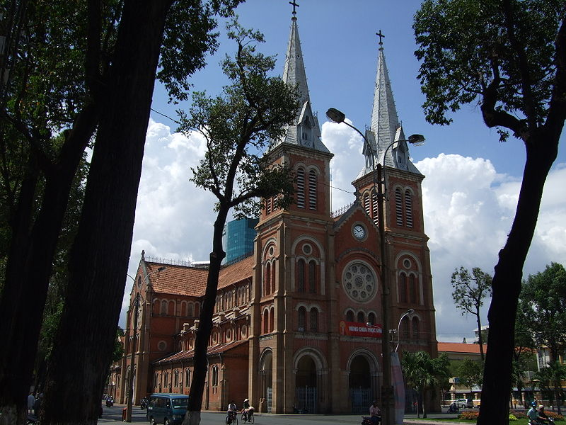Cathédrale, Ho-Chi-Minh-Ville, Vietnam © Wikimedia commons / Ottre