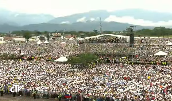 Messe à Villavicencio, Colombie, capture CTV