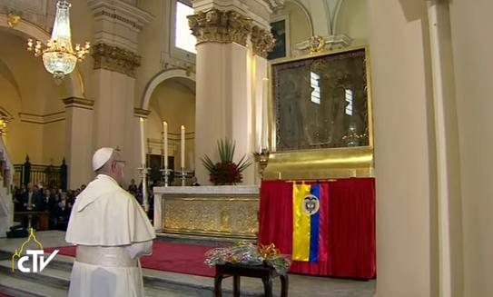 Cathédrale de Bogota, Notre Dame de Chiquinquira, Colombie, capture CTV