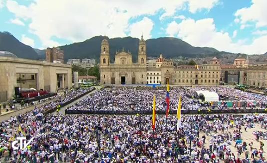 Cathédrale de Bogota, Colombie, capture CTV