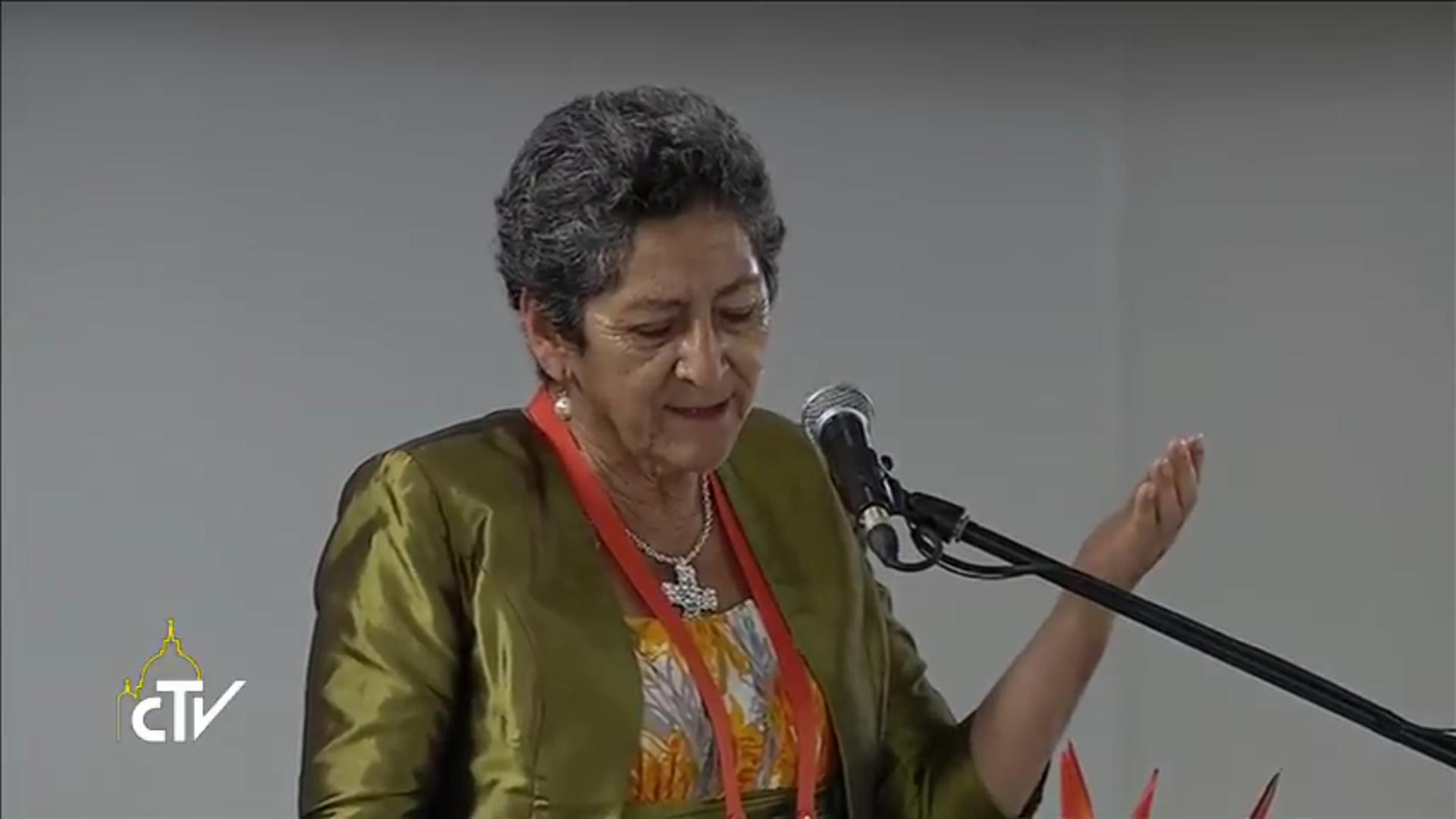 Pastora Mira, Réconciliation nationale, Villavicencio (Colombie) 08/07/2017, capture CTV