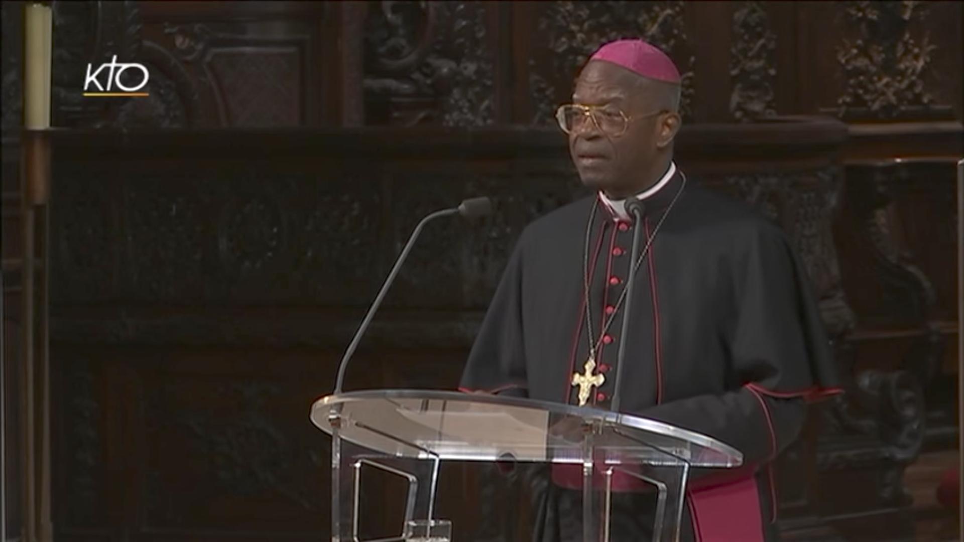 Mgr Barthélemy Adoukonou, capture KTO 2016
