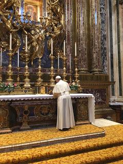 Le pape François à Sainte-Marie-Majeure 05/09/2017 © Il Sismografo