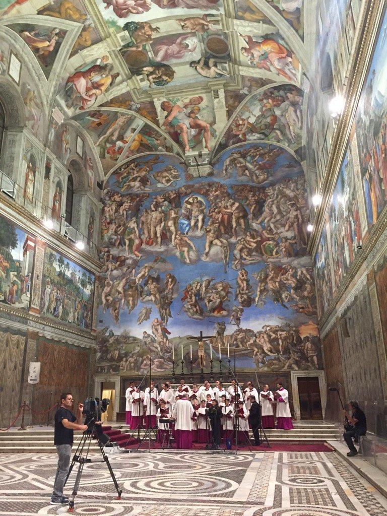 Cecilia Bartoli à la Chapelle Sixtine 05/09/2017 © L'Osservatore Romano