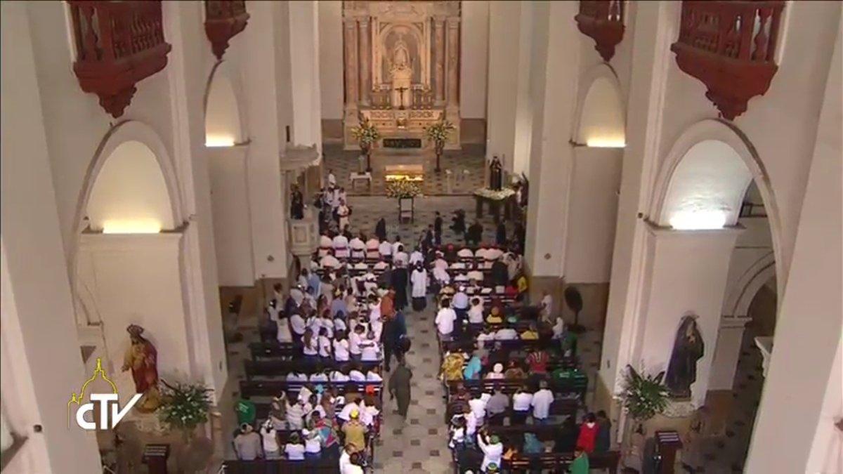 Eglise Saint-Pierre Claver, Cartagena, Colombie, capture CTV