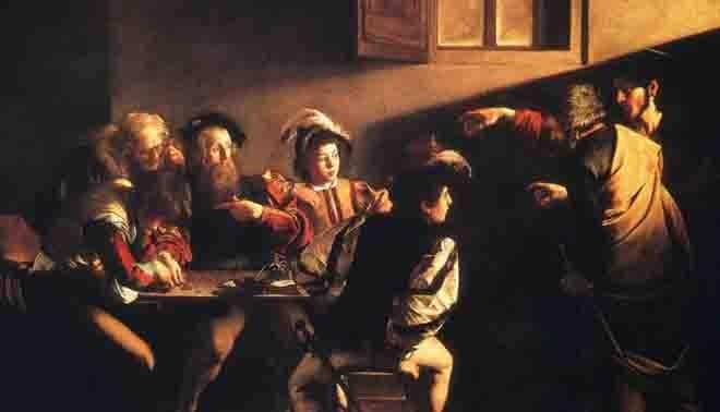 La vocation de saint Matthieu, Le Caravage, WIKIMEDIA COMMONS
