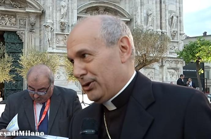 Mgr Gabriele Giordano Caccia, capture vidéo chiesadimilano.it