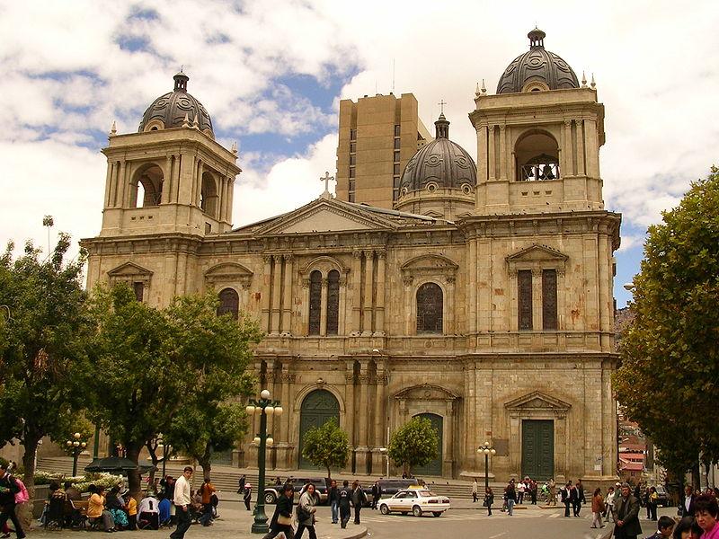 Cathédrale de La Paz, Bolivie © Wikimedia commons / Elemaki