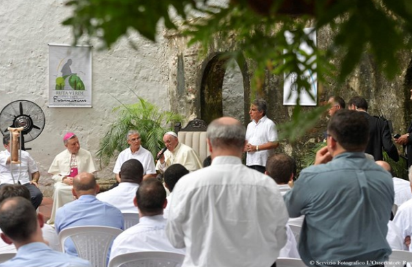 Rencontre avec les jésuites de Colombie © L'Osservatore Romano