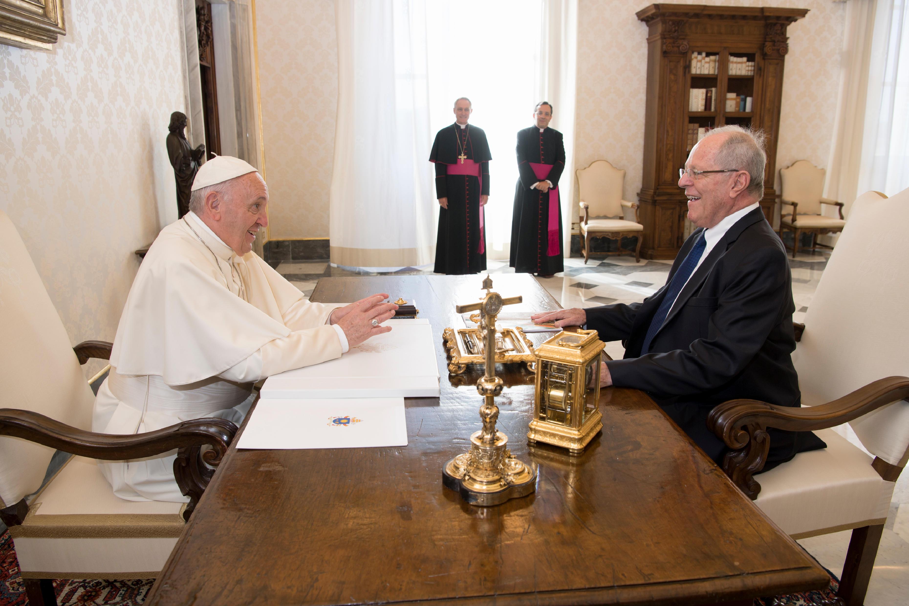 Président du Pérou Pedro Pablo Kuczynski Godard, 22 sept. 2017 © L'Osservatore Romano