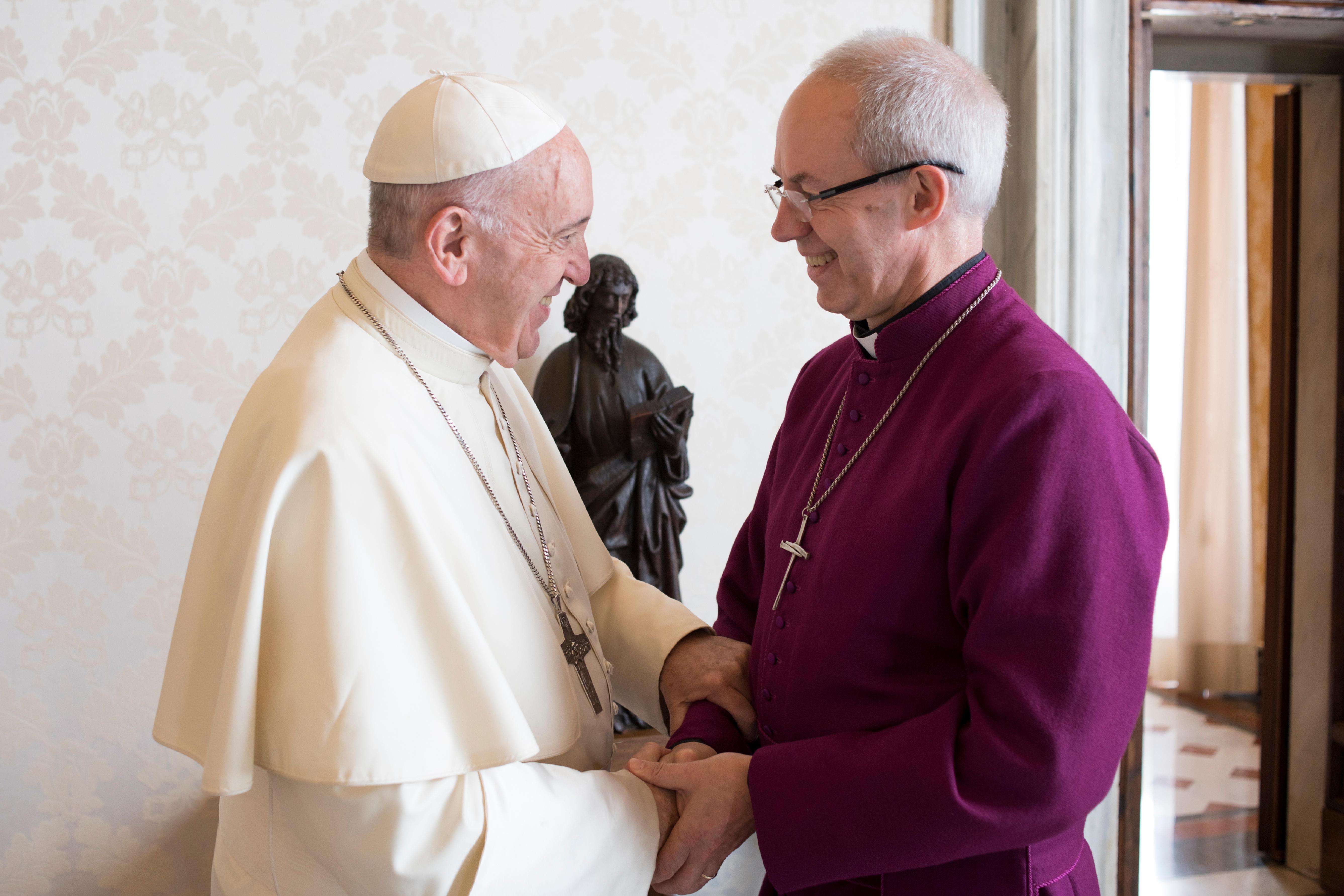 Visite de l'archevêque Welby 27/10/2017 © L'Osservatore Romano