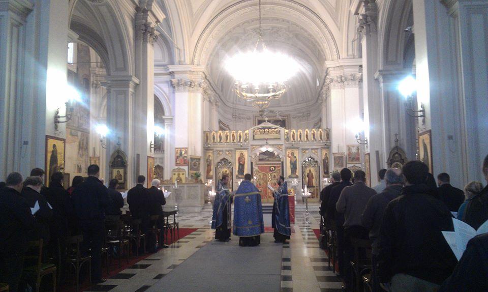 Liturgie en rite oriental catholique à l'Institut pontifical oriental @ facebook de l'Institut