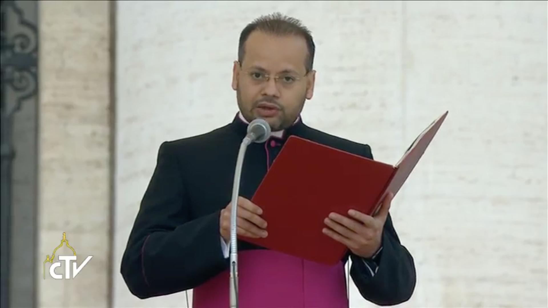 Mgr Yoannis Lahzi Gaïd, 18/10/2017, capture CTV