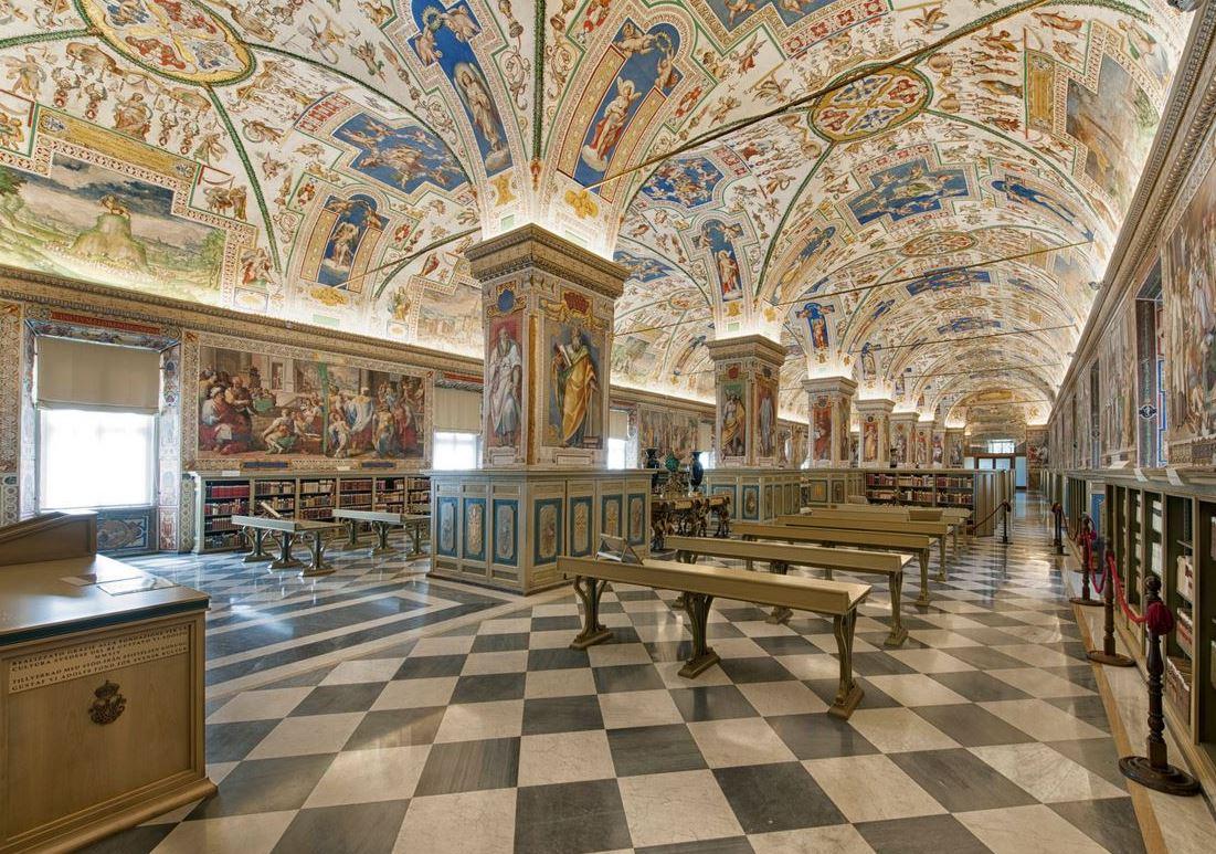 Salon Sixte V, bibliothèque vaticane © Twitter @vaticanlibrary