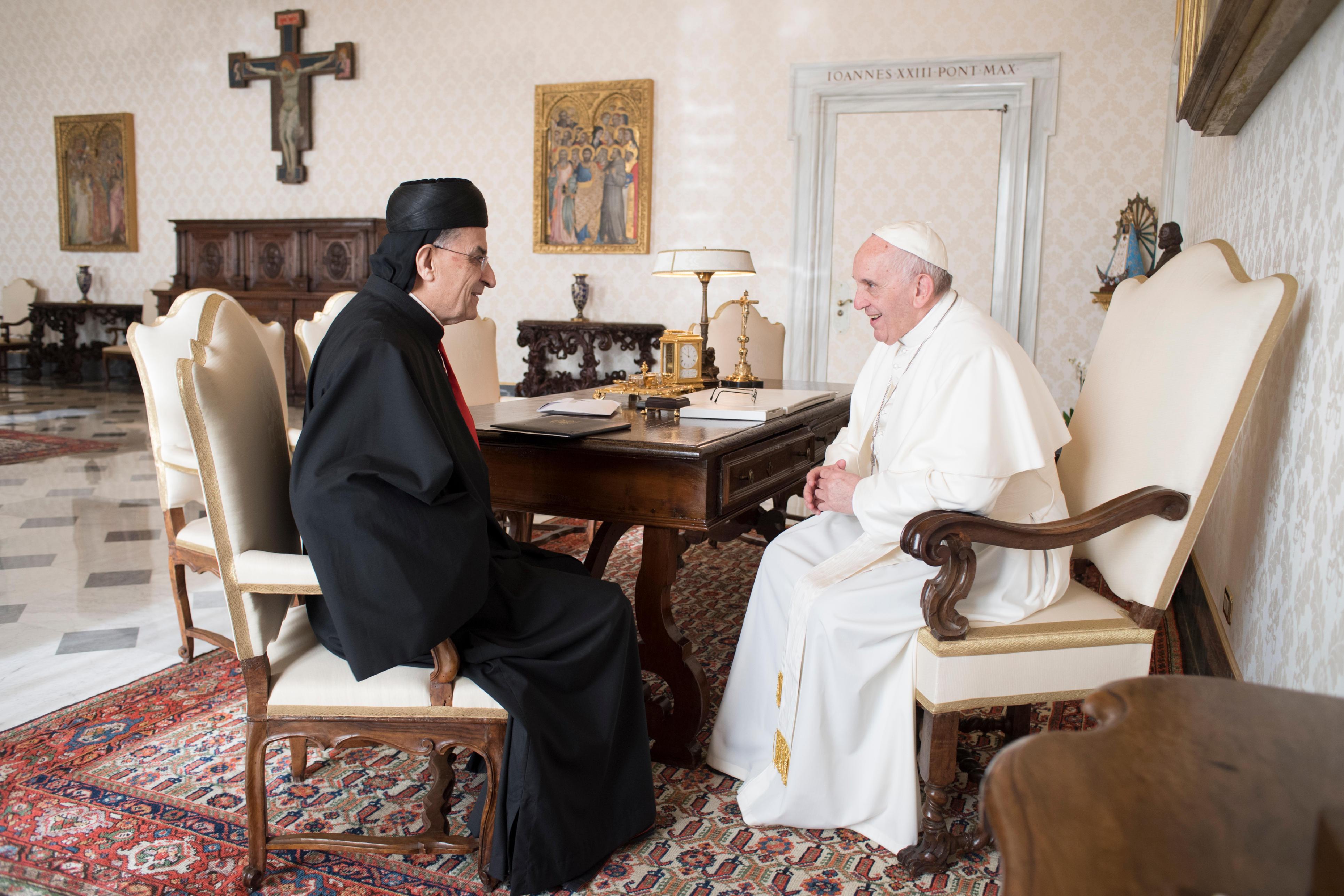 Audience au patriarche maronite le card. Béchara Boutros Raï 23/11/1017 © L'Osservatore Romano