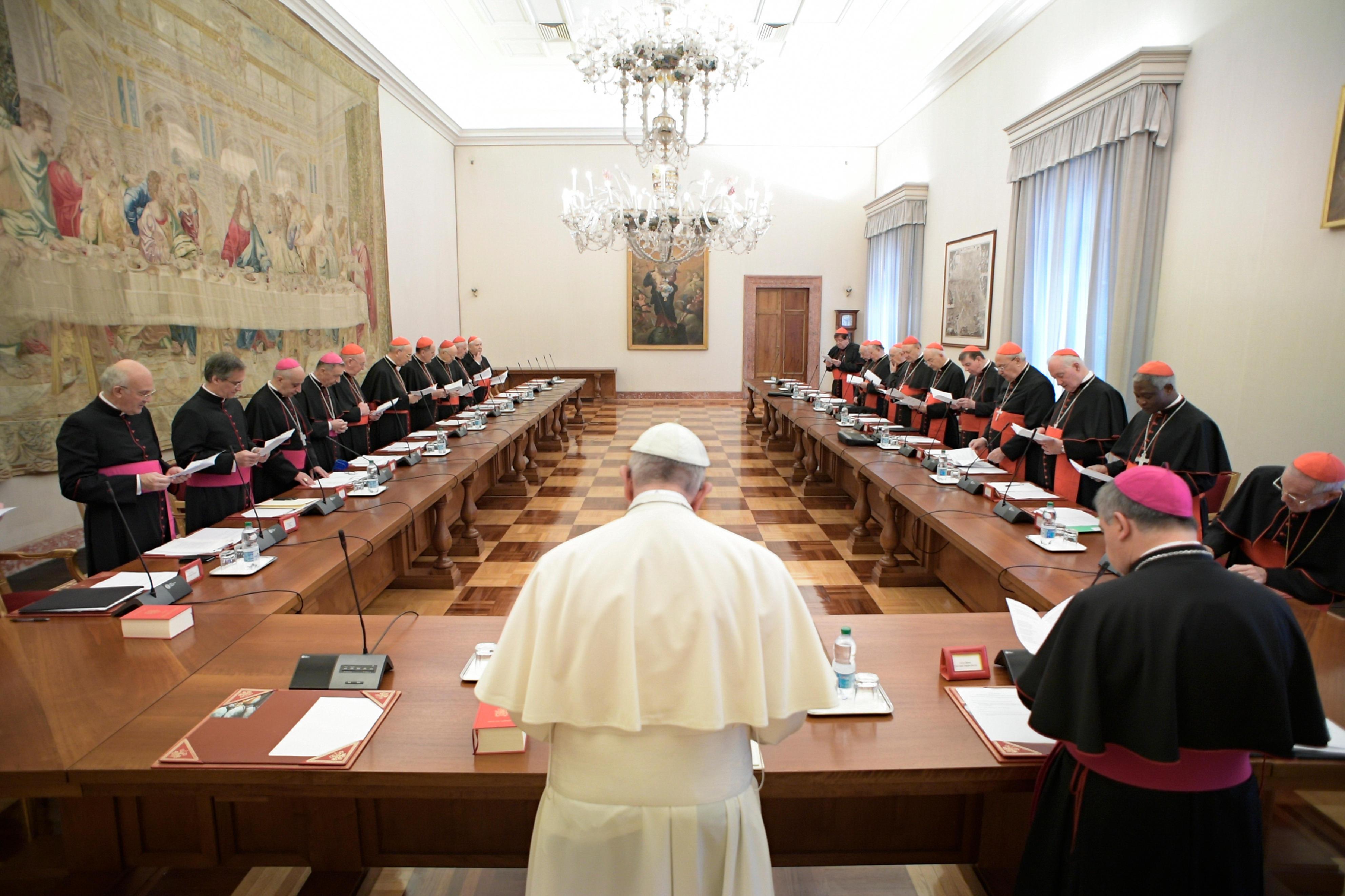Réunion avec les chefs des dicastères © L'Osservatore Romano