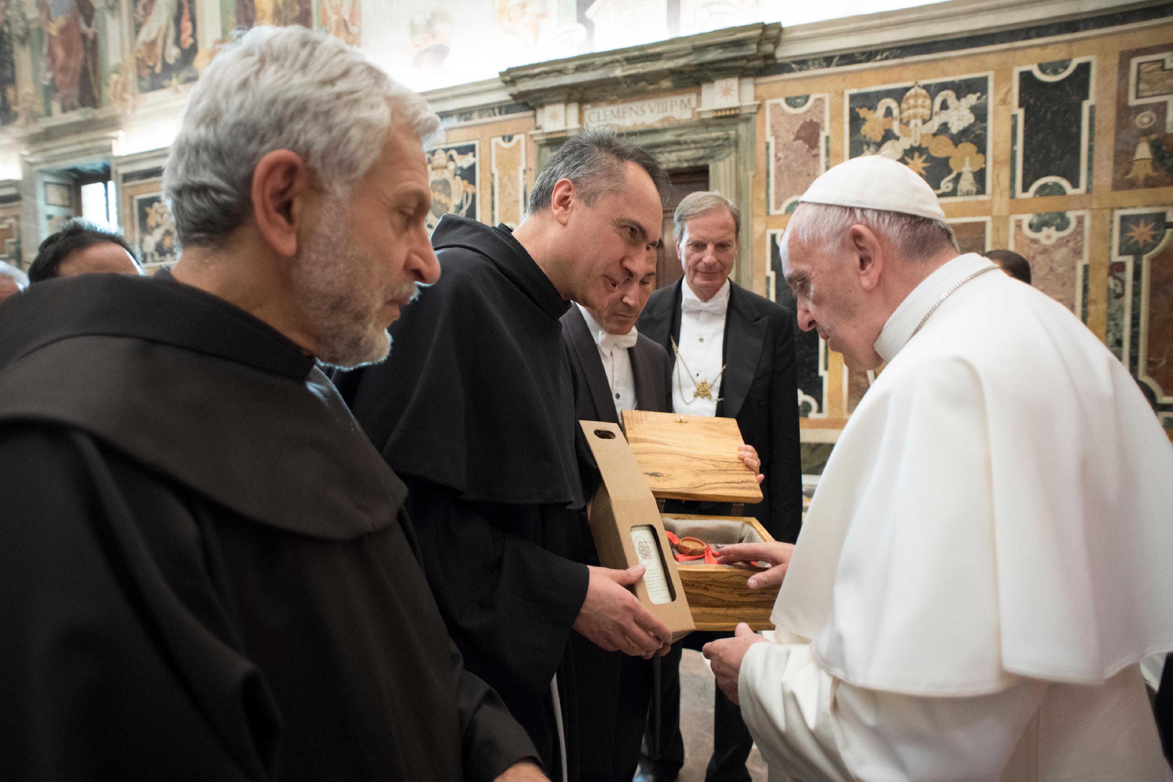 Audience à 400 franciscains 23/11/1017 © L'Osservatore Romano