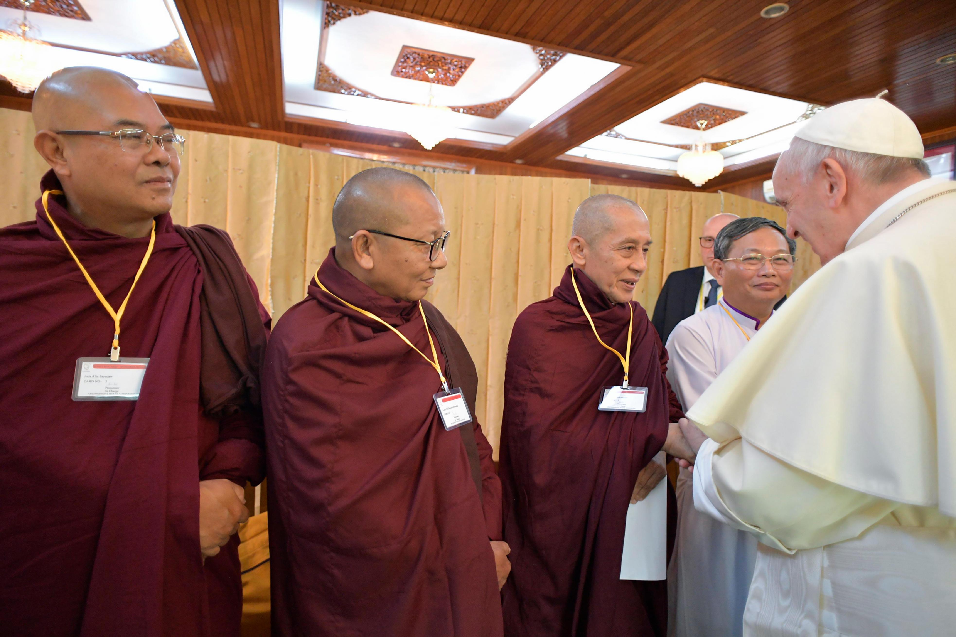 Responsables religieux du Myanmar © L'Osservatore Romano