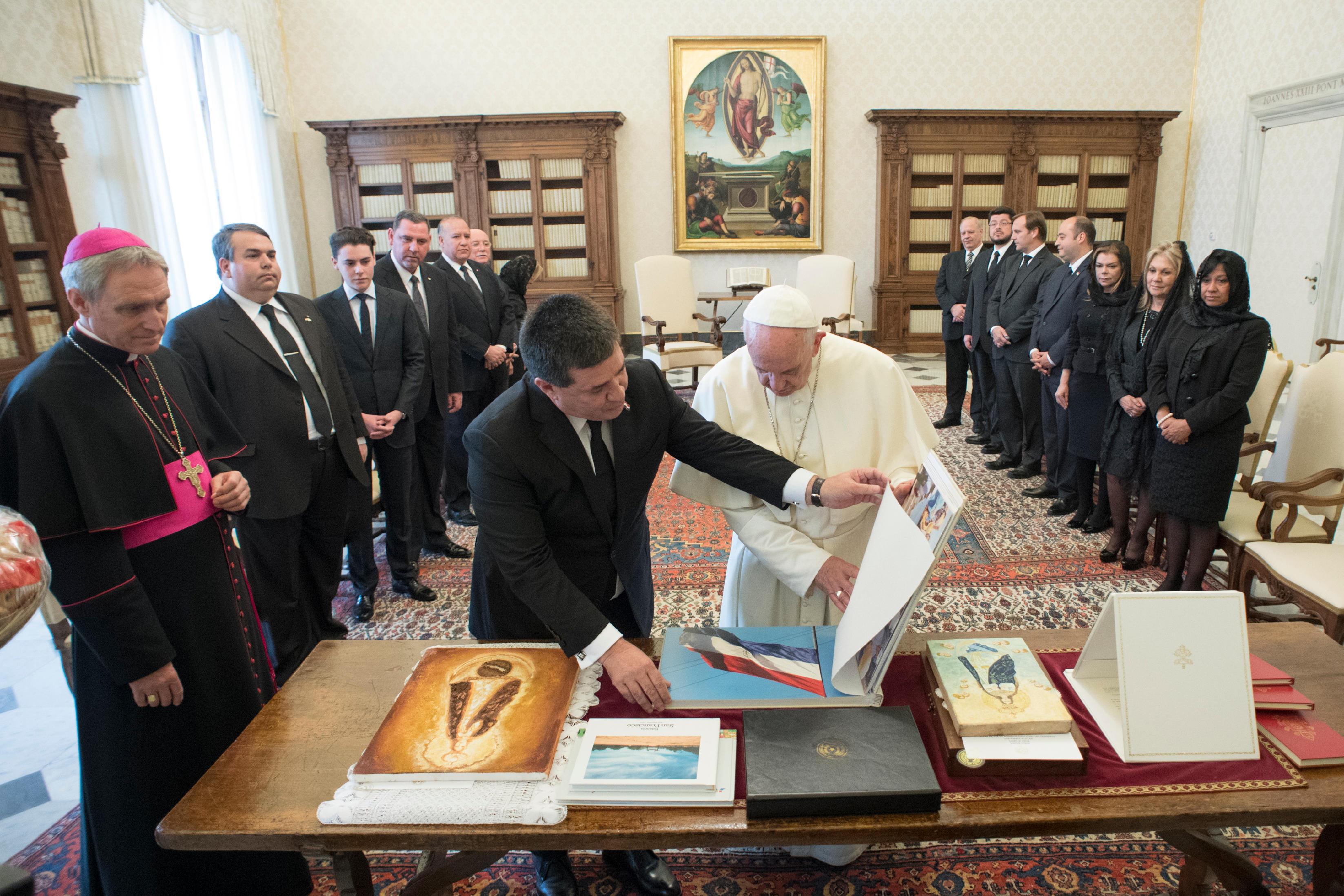Président Horacio Cartes (Paraguay) 09/11/2017 © L'Osservatore Romano