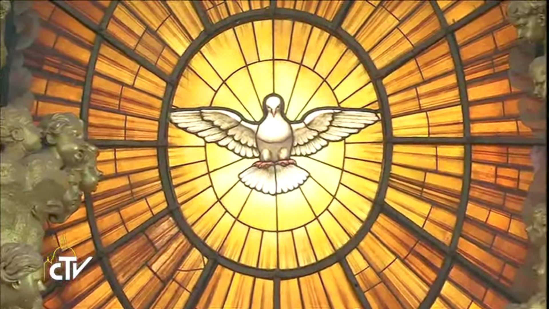 Colombe de l'Esprit Saint, gloire du Bernin, Saint-Pierre de Rome, capture CTV