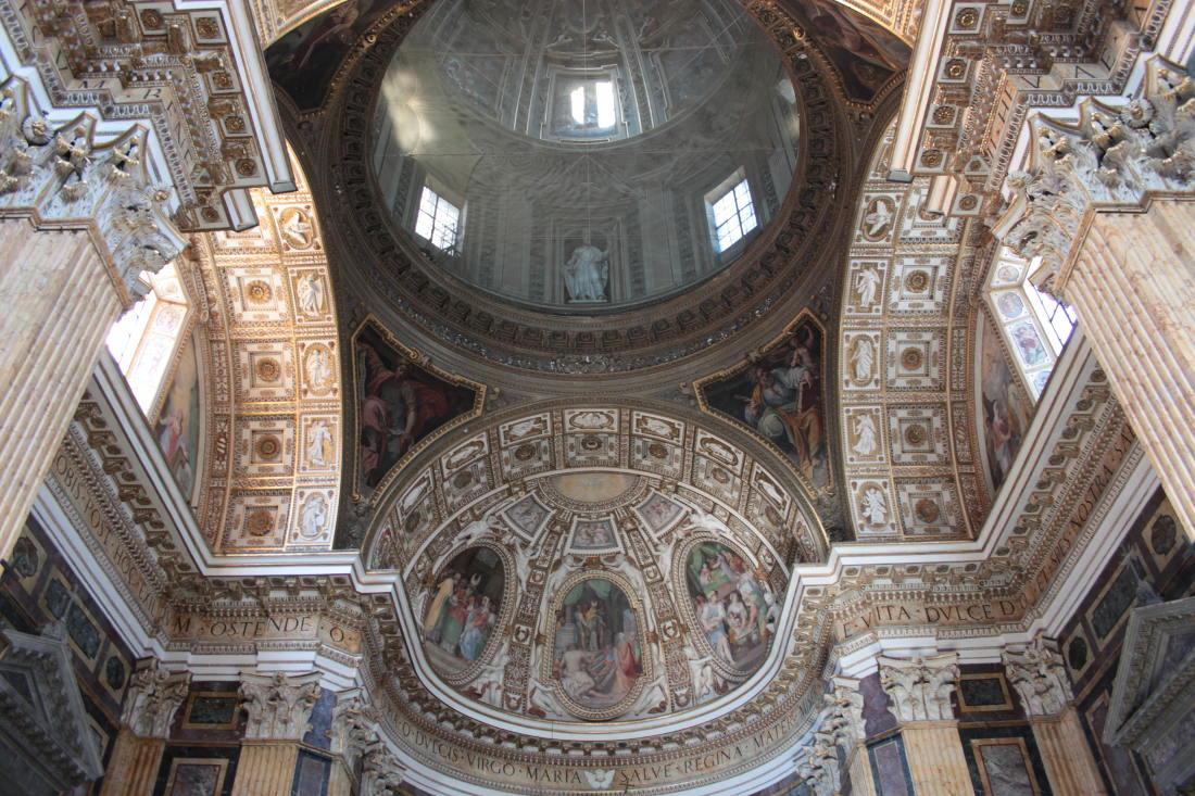 Madonna dei Monti (Rome), l'intérieur de la coupole @ romaperilgiubileo.gov.it (F.Rosi)