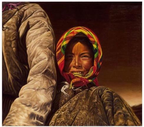 Tableau de Yan Zhang , «The Cradling Arm», courtoisie des Musées du Vatican