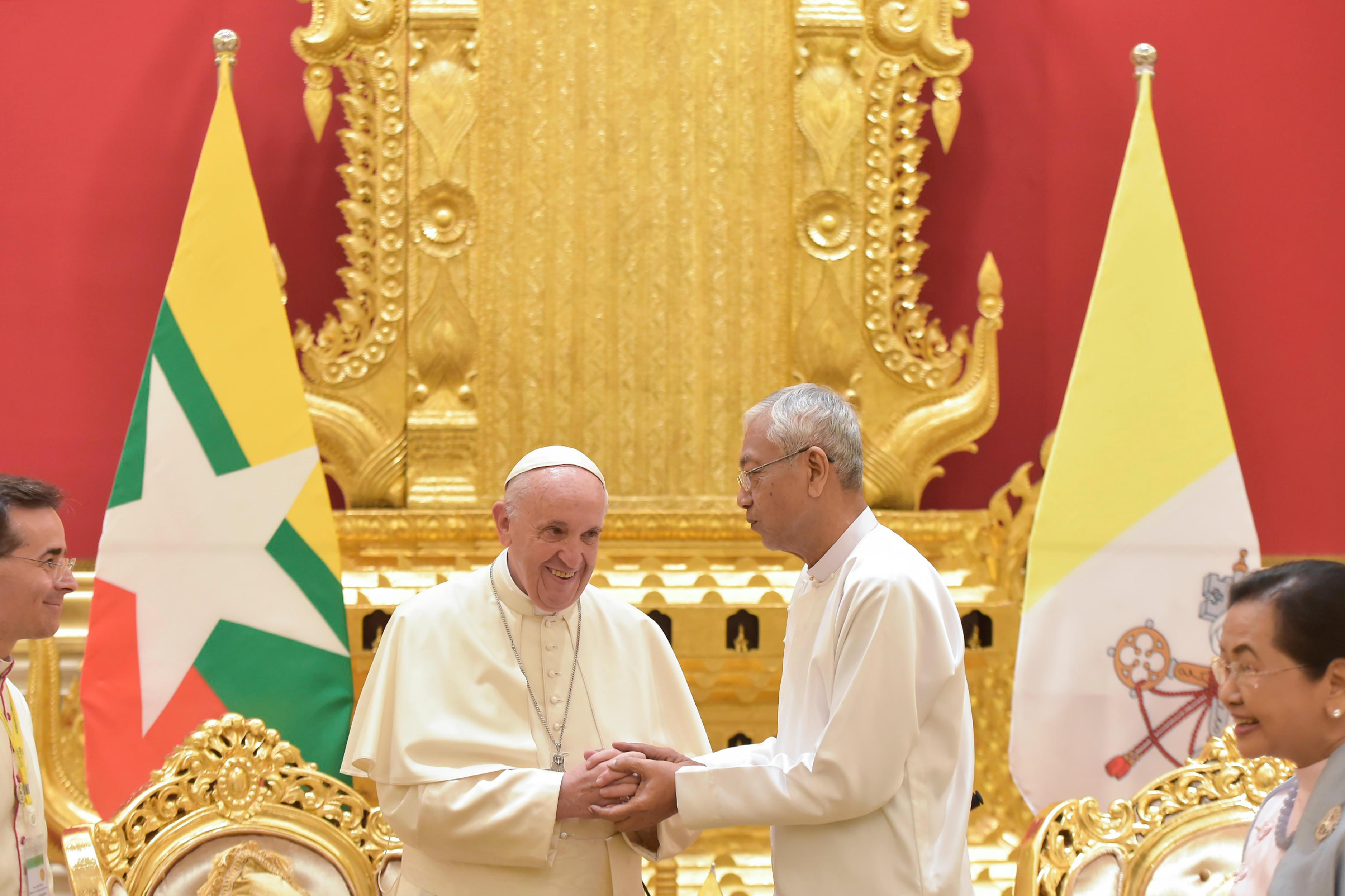 Visite au président du Myanmar, Htin Kyaw © L'Osservatore Romano