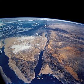 Le Sinaï depuis l'espace, Sinaifromspace, domaine public