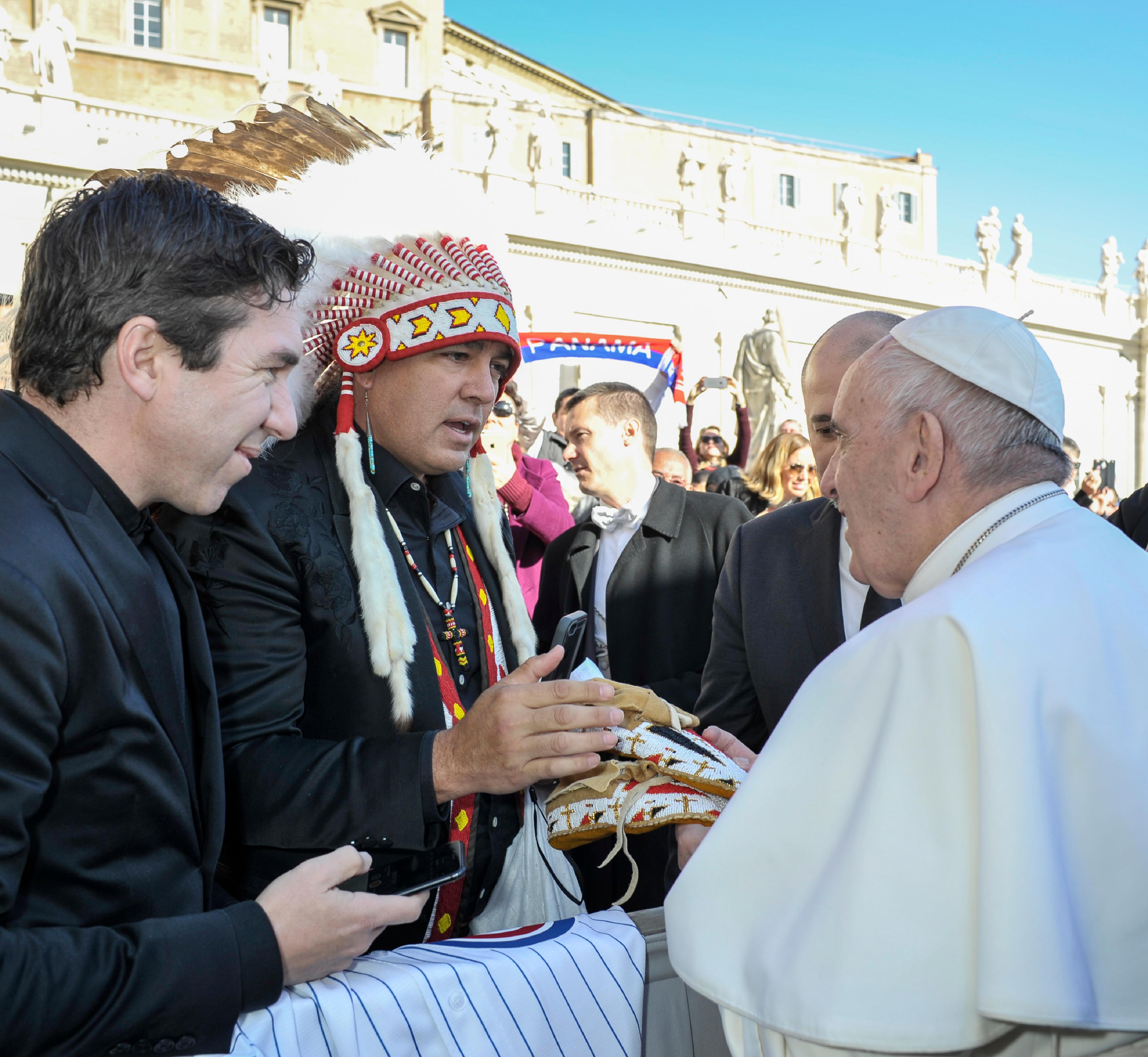 Dialogue amérindien pour le pape François 22/11/2017 © L'Osservatore Romano